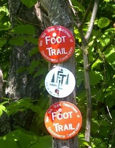 FLT to Slpit Rock trail blazes