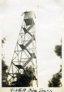 Red Hill Fire Tower provided by Time and the Valleys Museum