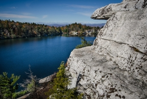 Rock ledges over Lake Minnewaska Photo by NORA SCARLETT