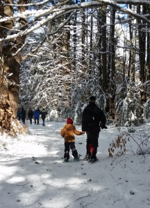 Snowshoe with a Child PHOTO by Lisa M. Lyons